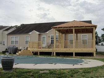 New Deck, Custom Gazebo, and Patio by Compton Contracting